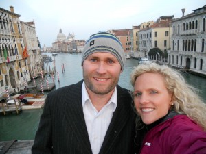 Wife and I in Venice, Italy